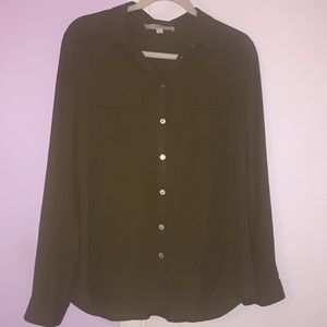 LOFT Army Green Button Up